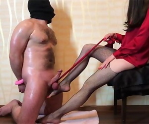 Domme Ballbusting and Cock Torture. Dick Teasing & Footjob..