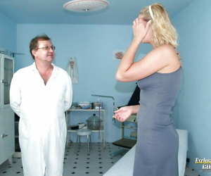 Fat tit ash-blonde gets finger-tickled by gyno doctor and..