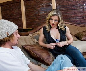 Mom in glasses Cory Chase seduced this hunk and swallows..