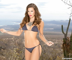 Centerfold model Gia Ramey-Gay slipping out of bikini in..