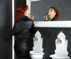 Clothed european dame Kety Nub enjoys sloppy gloryhole act..