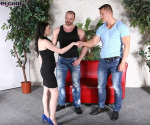 Horny babe and 2 boy-hole studs in mmf 3way from bimaxx -..