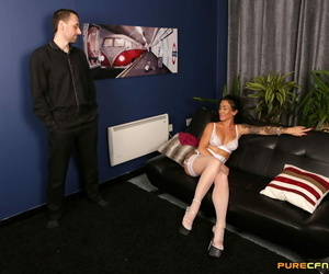 Clothed bellowing disrobe a stud naked before jerking and..