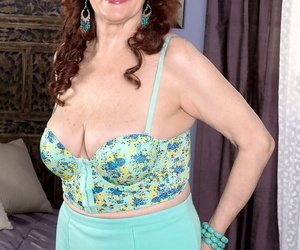 Redheaded granny Katherine Merlot sports a creampie after..