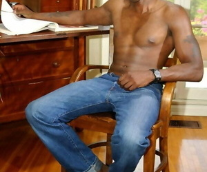 Gay black guy demonstrating off his warm assets and thick..