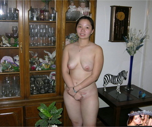 Asian college girl finances her education by modeling in..