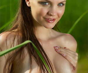 All congenital girl taking in the harvest naked with firm..
