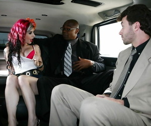 Tatted D/s Joanna Angel is taking part in an interracial..