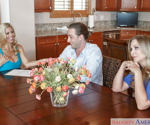 MILF adult movie stars Alexis Fawx and Julia Ann have..