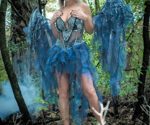 Fairy cosplay chick Nikki Sims doffs her wings and wisp to..
