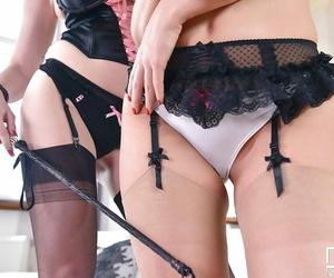 Glamour lesbos Tasha Holz and Jemma Valentine sucking..