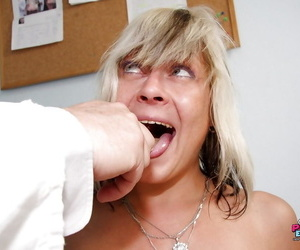 Mature at the Gyno getting her taut anus & vagina stuffed..