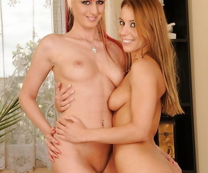 Hot sapphic White Angel gets her wet cunt fisted by Nikky..