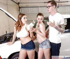 Moist and chesty chicks Natasha Slurps and Tiff Star boob..