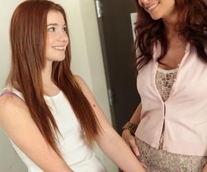 Syren Demer helps her stepdaughter Ava Sparxxx in fucking..
