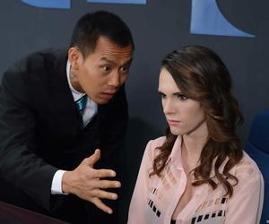 Busty secretary Jennifer Dark sates a Japanese clients..