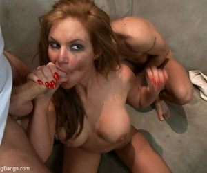 Chesty chick Phoenix Marie sports a creampie after rough..