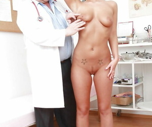 European fetish chick Nathaly Heaven has anal and vaginal..