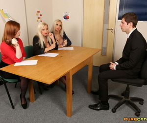 Dressed squealing from human resources unclothe an..