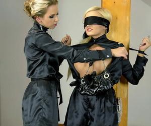 Molten fetish women Jenna Adorable & Mia Ash-blonde make..