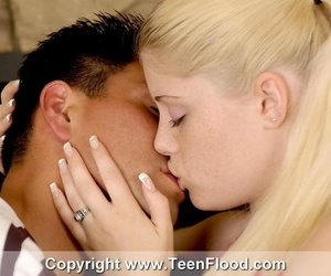 Youthfull blonde Charlotte heads beaver to throat in her..