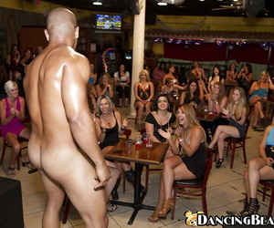 Clad squealing are pleasuring scorching strippers with..
