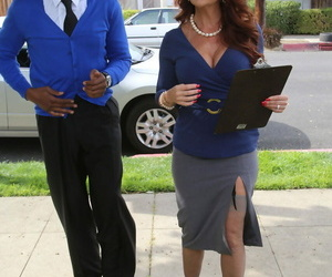 Redhead head real estate agent fulfills her fantasy of..