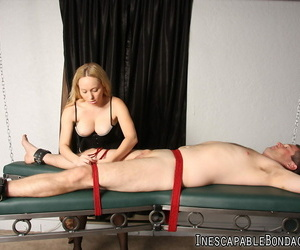 Dominant ash-blonde Aiden Starr restrains and blindfolds a..