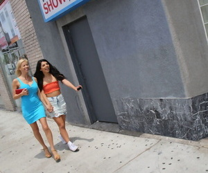 Sultry Mummy Alexis Fawx and teenager Gina Valentina play..