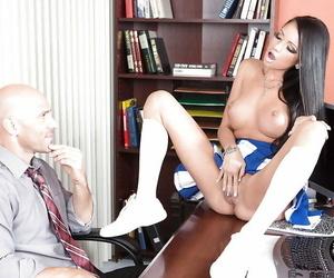 Office pound featuring an crazy cheerleader woman Raven..