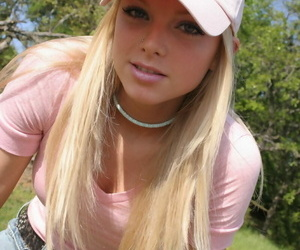Ash-blonde unexperienced Skye Model exposes her nice..