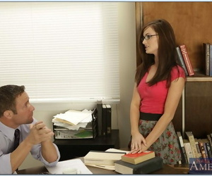 Sumptuous college chick in glasses Lily Carter got her..