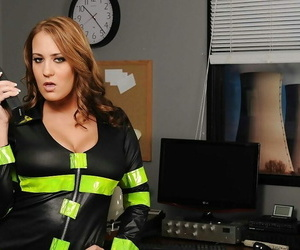 Dangerous Mummy in uniform Trina Michaels taunts with her..