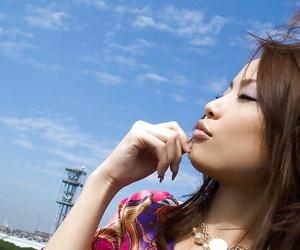 Hot nut sack asian teenager Risa Kasumi unveiling her..