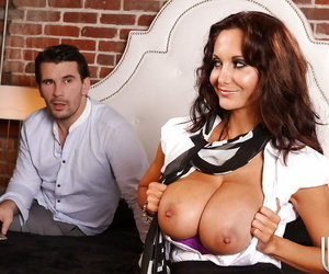 Ava Addams gets pounded and jizzed over her big tits and..