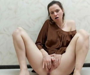 Beautiful Sexy Chick Massages herself and Jerks off her..