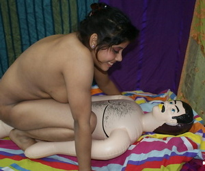 Fine Indian female Rupali has sexual relations with her..