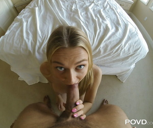 Gonzo nail vignette with a stunning blonde European woman..