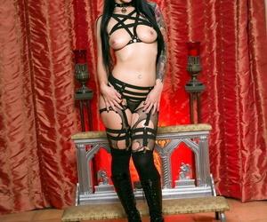 Long-legged pornstar Katrina Jade displaying off..