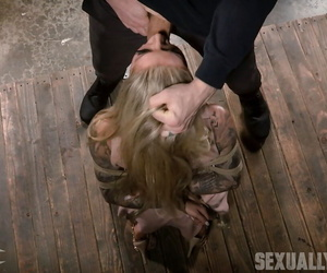 Inked hot ash-blonde victim Karma Rx suffered forced..