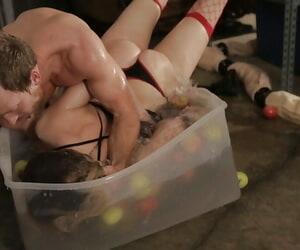Brooklyn Lee is enjoying an hardcore BDSM sex activity..