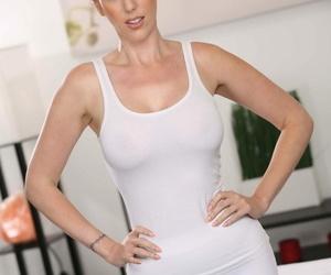 Big boobed ginger Lauren Phillips massages her sweet..