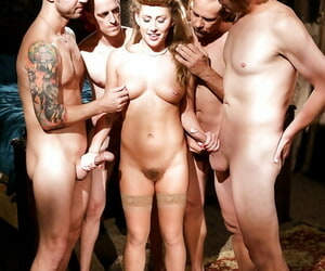 Naked doll Filthy Rich getting on her knees and big-boobed..