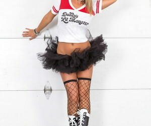 Amateur Nikki Sims doffs T-shirt and tutu for SFW poses in..
