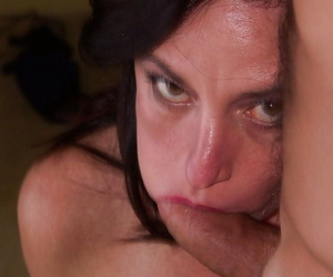 Karen Kougar gets mouth fucked and likes hard-core anal..