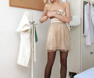 Blonde girl with pigtails Simone jizz-swapping and..