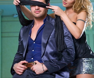 Warm blonde blindfolds her dude previous to deepthroating..