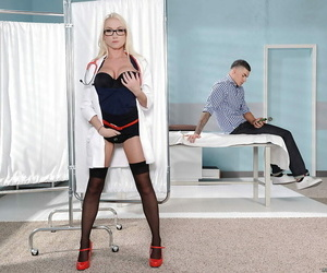 Experienced blond Madison Scott is toying with that lovely..