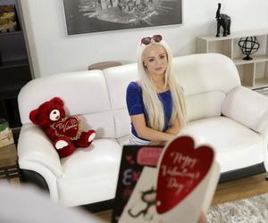 Petite ash-blonde teenager Elsa Jean finds her..