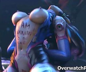 Overwatch D.Va Rough Sex 25 min